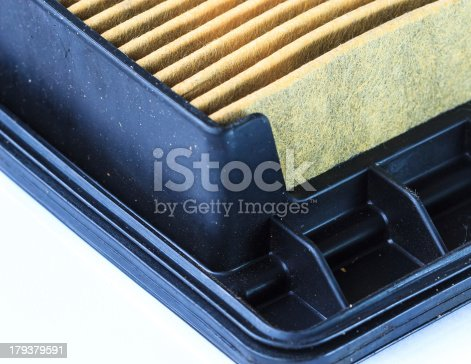 istock Closeup of Used Air Filter Cartridge isolated on White Background 179379591