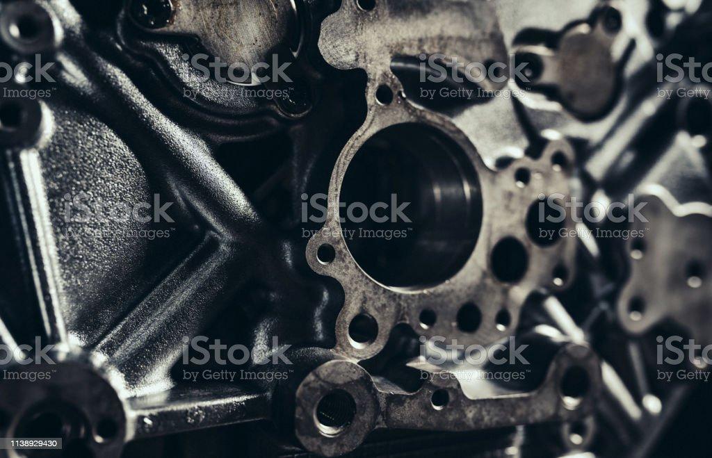 Close-up of V10 engine part
