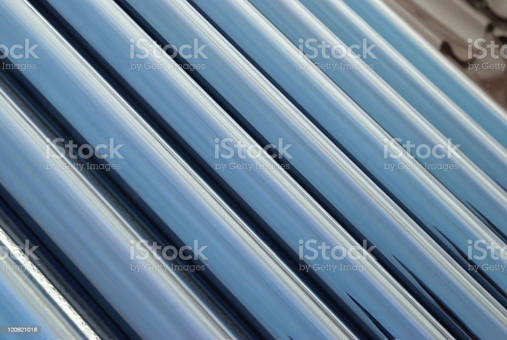 Closeup of vacuum tubes stock photo