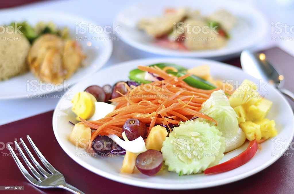 Closeup of vegetable salad royalty-free stock photo