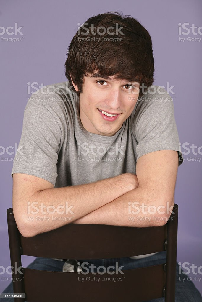 closeup of very handsome young man smiling royalty-free stock photo