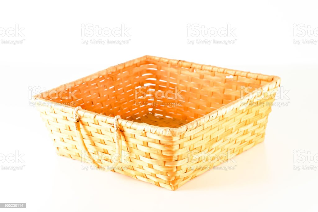Close-up of vimini bamboo wooden basket royalty-free stock photo
