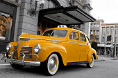 istock Close-up of vintage New York cab 171147725