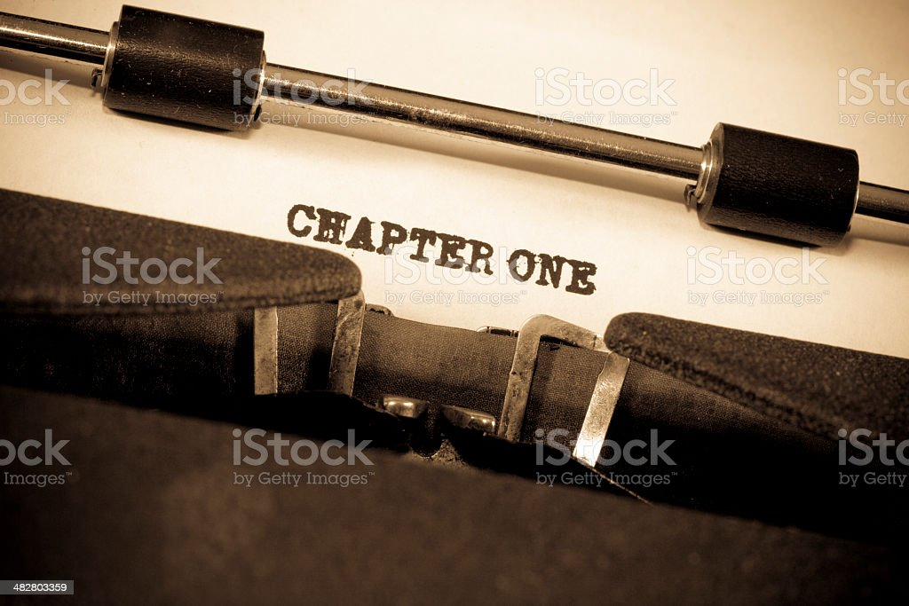Close-up of Vintage Typewriter With Paper royalty-free stock photo
