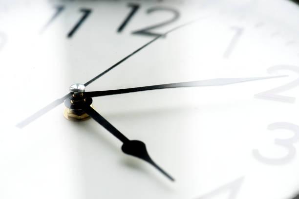 分離された時計クロック タイムのクローズ アップ ストックフォト