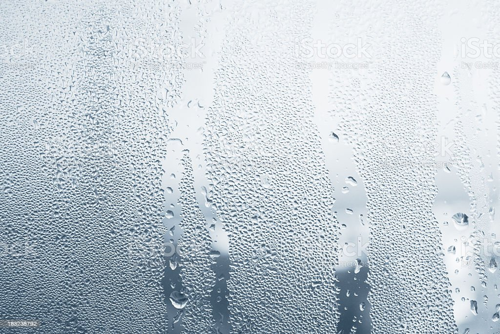 Close-up of water drops on a window royalty-free stock photo