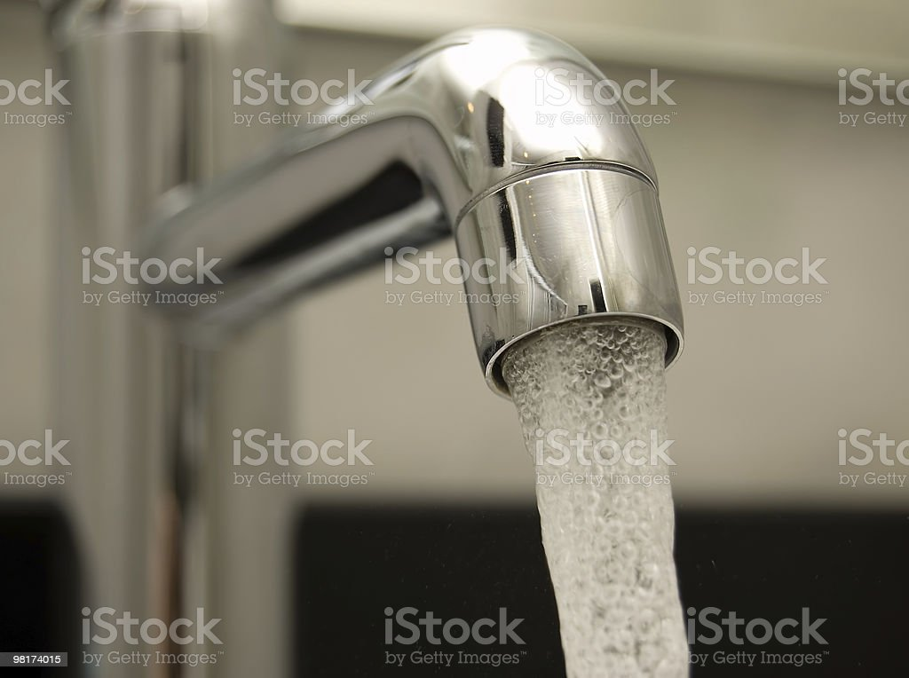 Close-up of water tap with blurred background royalty-free stock photo