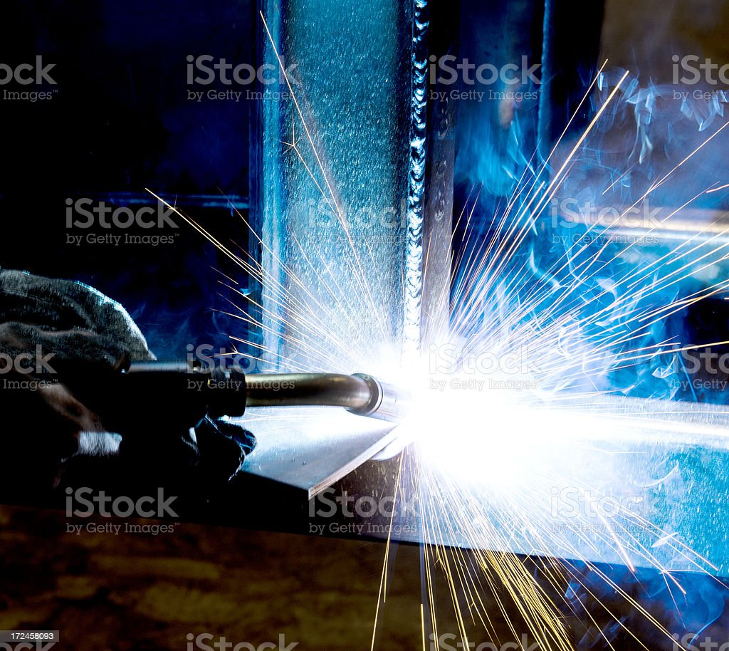 Close-up of welding royalty-free stock photo