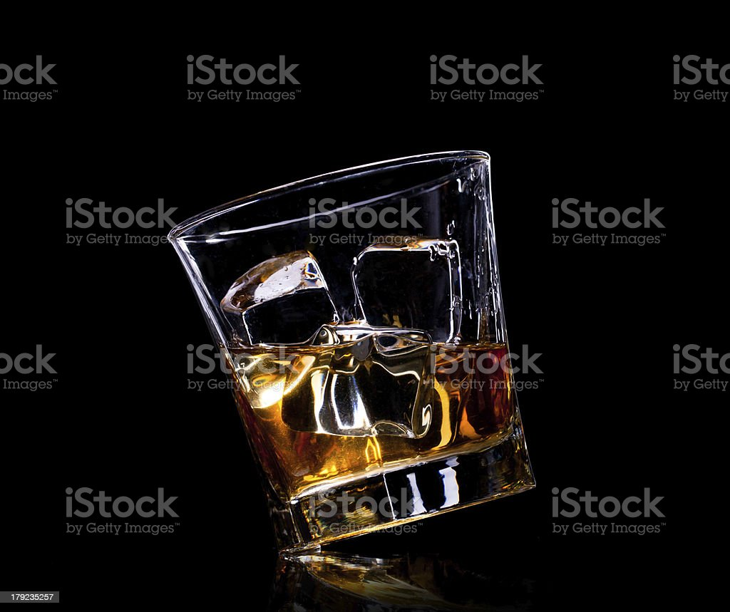 Close-up of whiskey royalty-free stock photo