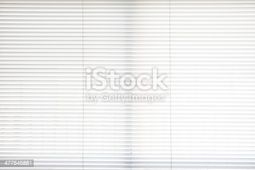Close-up of white blinds texture background.
