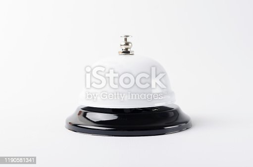 840883328 istock photo Closeup of white call bell on the white background 1190581341