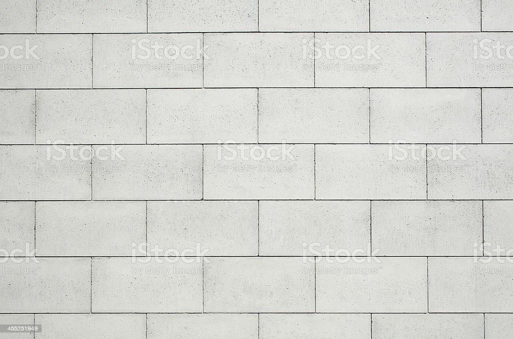 Close-up of white concrete block wall stock photo