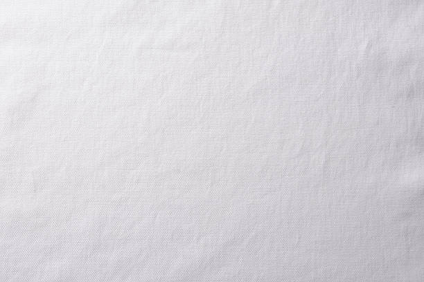 Close-up of white fabric texture background stock photo