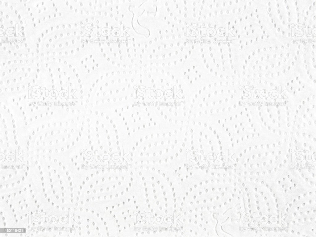 Closeup of white tissue paper stock photo