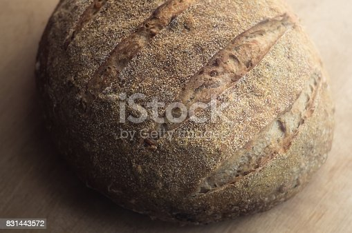 913749618istockphoto Close-up of whole wheat artisan sourdough bread 831443572