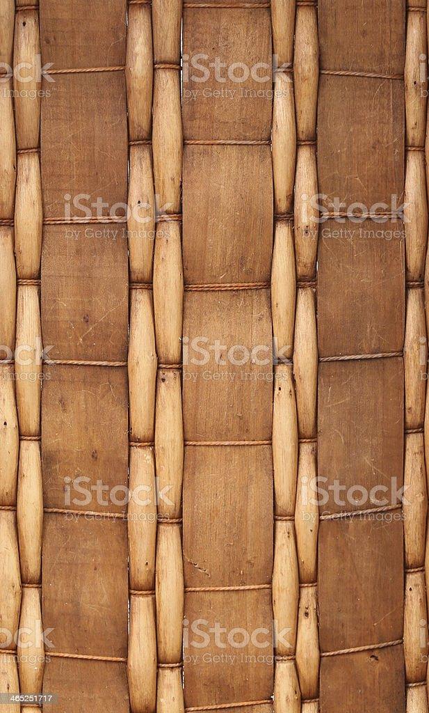 Closeup of  wicker basket. Whole background. stock photo