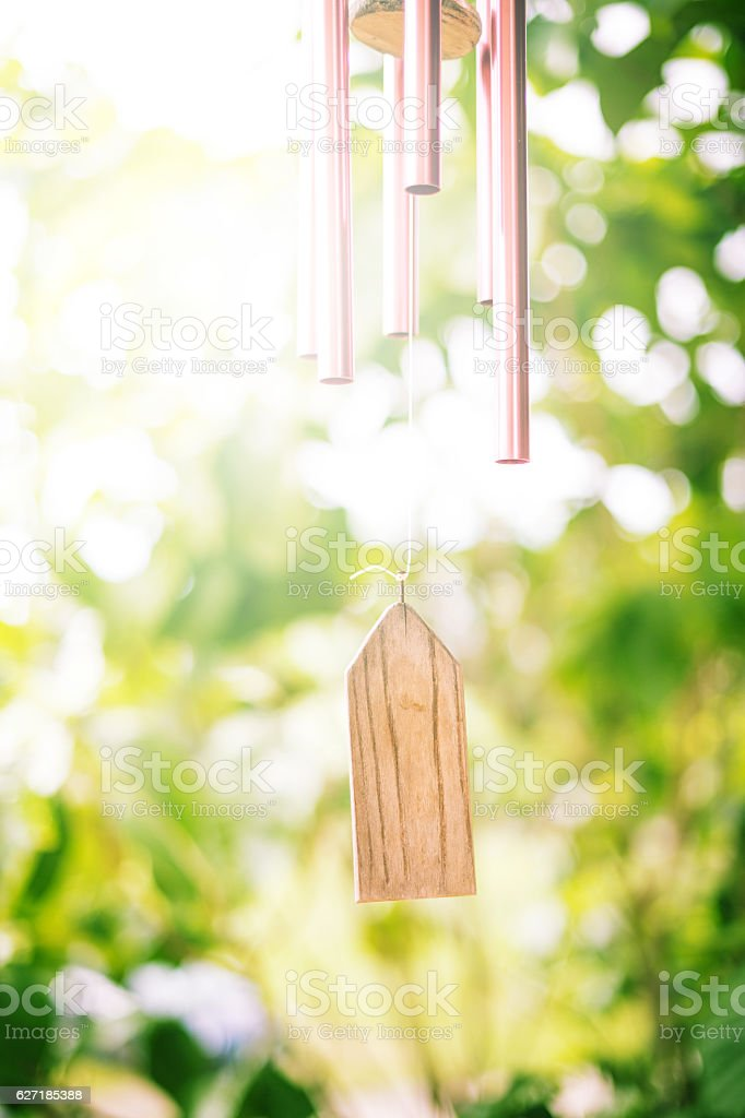 Closeup of Wind Chime stock photo