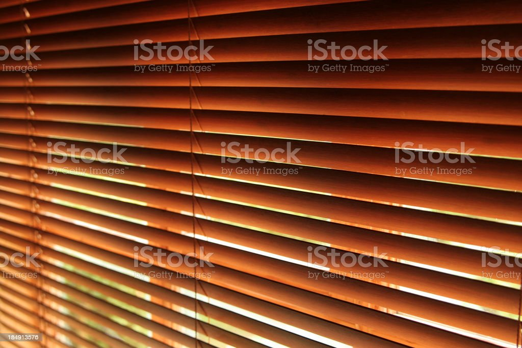 Closeup of window Venetian blinds royalty-free stock photo