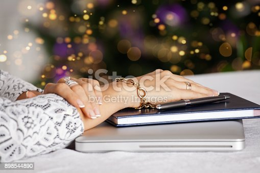 istock Closeup of woman hands. 898544890