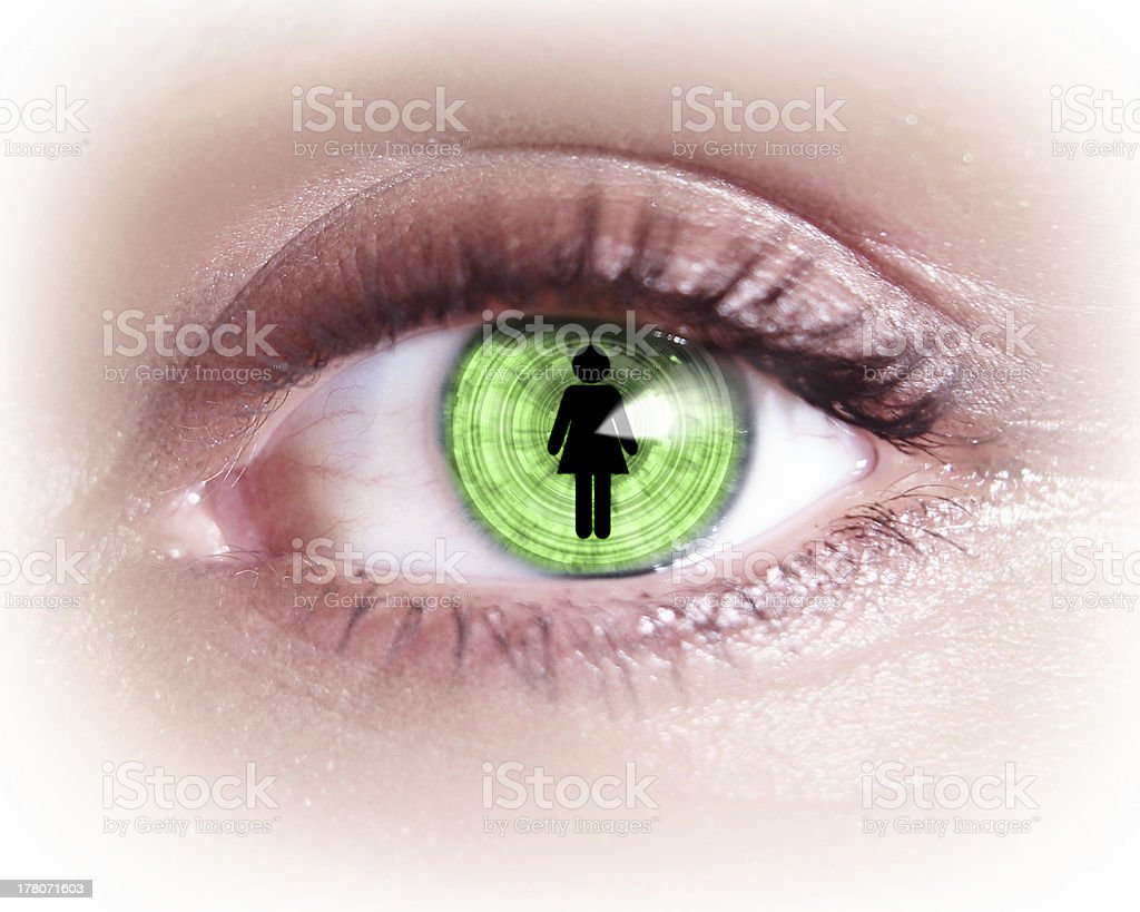 Close-up of woman's eye royalty-free stock photo