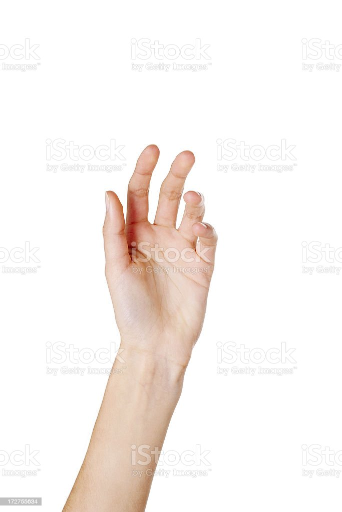 Close-up of woman's hand stock photo