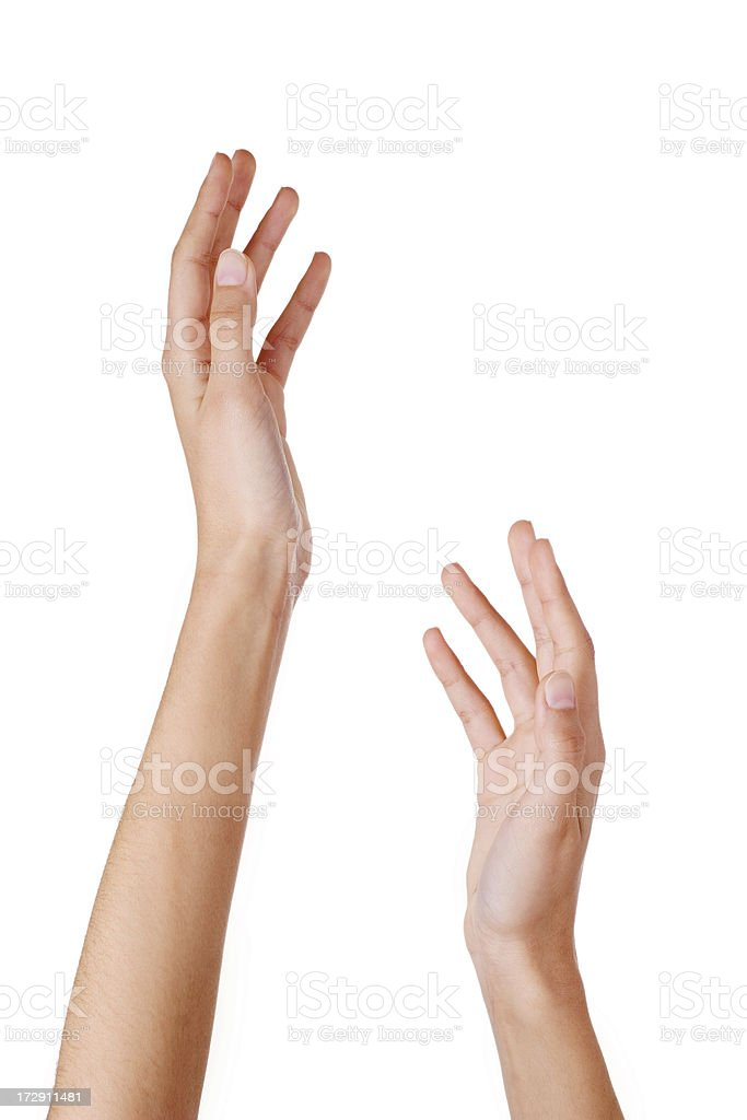 Close-up of woman's hands stock photo