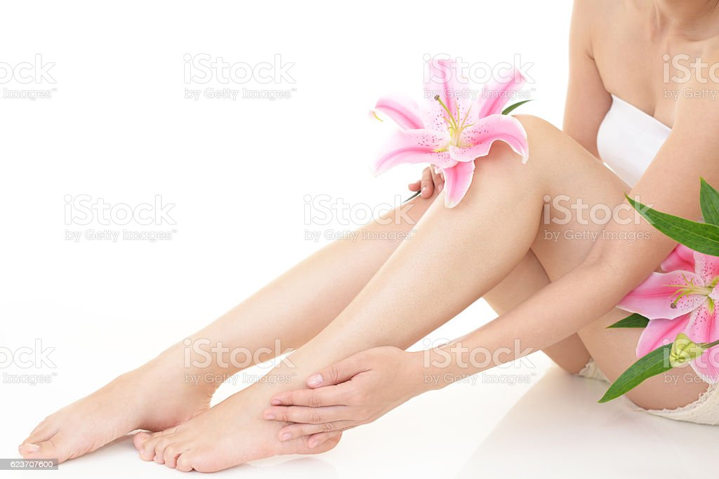 Close-up of Woman's Legs ストックフォト