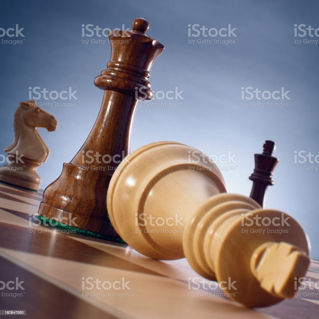 The suit of the chess queen with his own hands