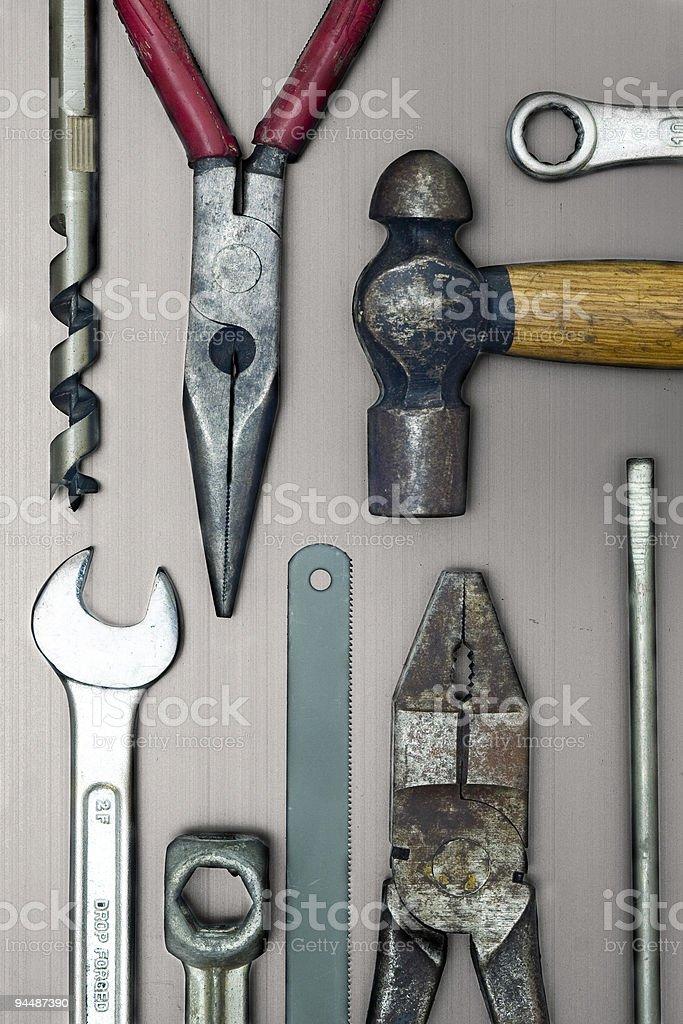 Closeup of work tools royalty-free stock photo