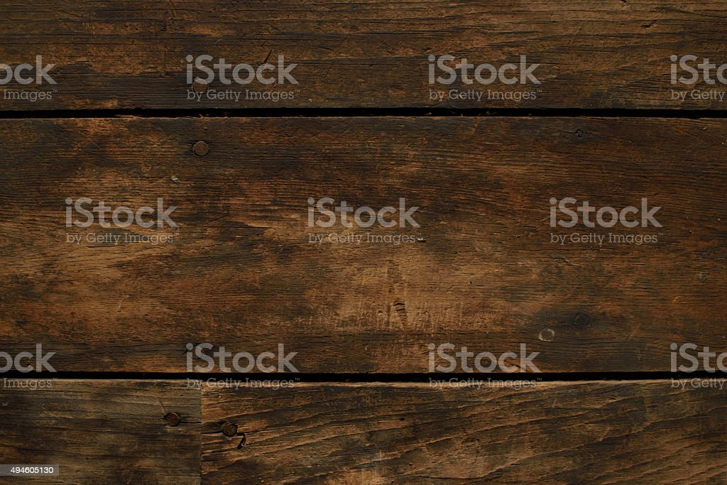 Closeup of Worn Horizontal Wood Floor stock photo