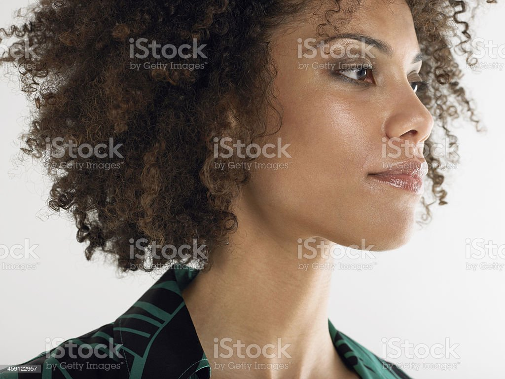 Closeup Of Young Afro Woman royalty-free stock photo