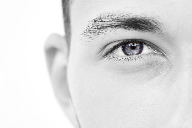 close-up of young man eye - male eyes bildbanksfoton och bilder