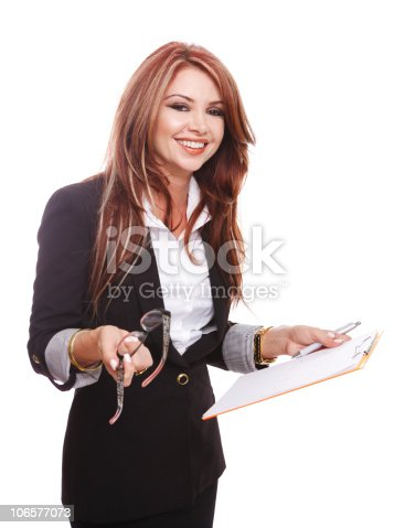 istock Close-up of young woman gesturing 106577073