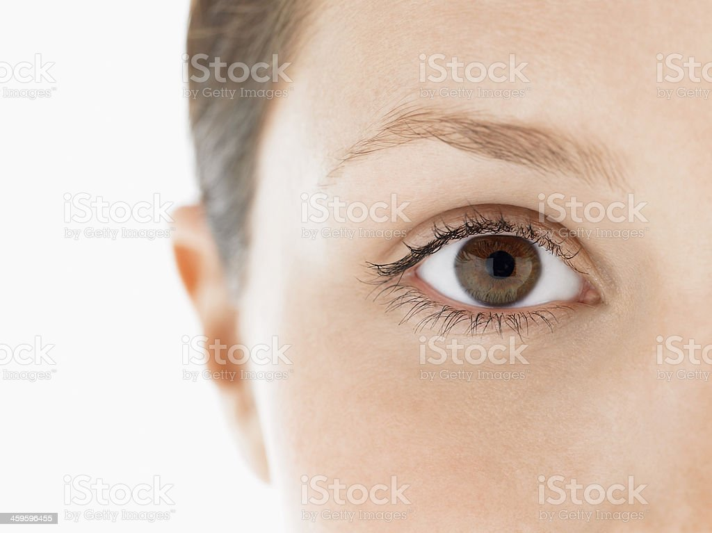 Closeup Of Young Woman's Eye stock photo