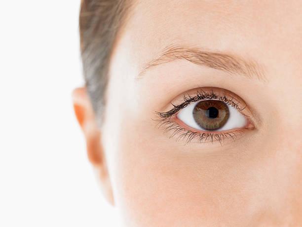 Closeup Of Young Woman's Eye stock photo
