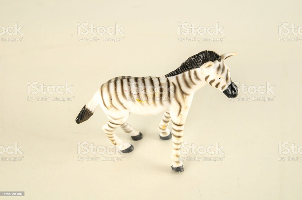 Close-up of zebra plastic animal royalty-free stock photo
