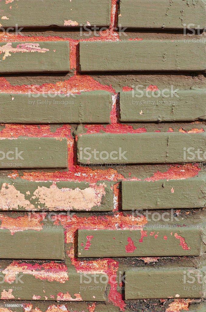 closeup old brick wall royalty-free stock photo