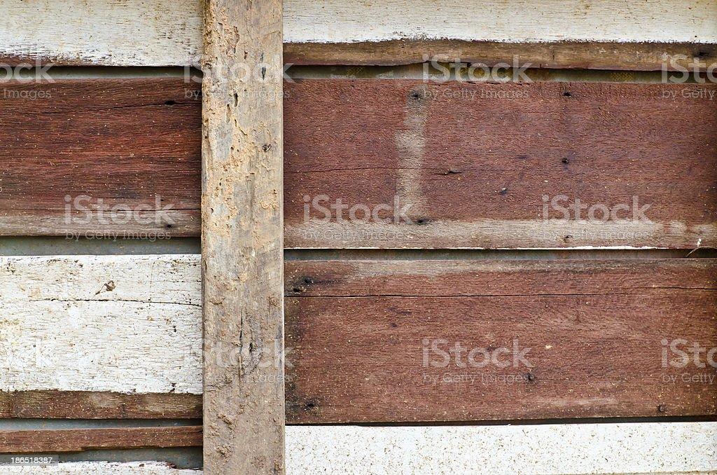 Closeup old hardwood panel royalty-free stock photo