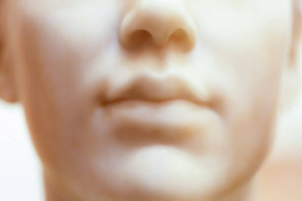 Closeup old marble statue of angel, background with copy space Closeup, old marble statue of angel, background with copy space, Karlovy Vary around 1880, full frame horizontal composition 1880 stock pictures, royalty-free photos & images