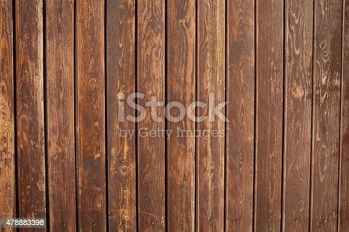 istock Closeup old wall of wooden boards. 478883398