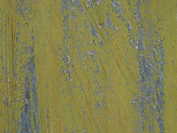 Closeup Olive Grunge Peeling Paint Background Texture stock photo