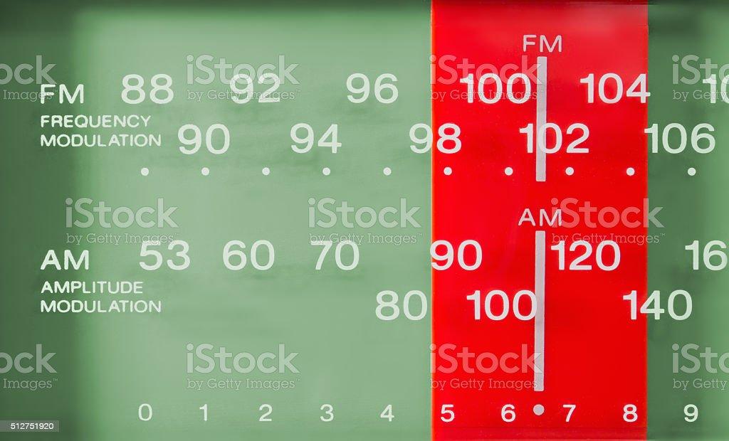 Closeup on a Radio FM-AM Tuner stock photo