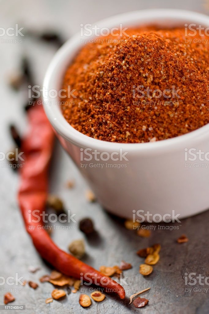 Closeup on a rich colorful spice rub stock photo