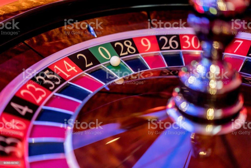 Close-up auf einem Roulette im casino – Foto