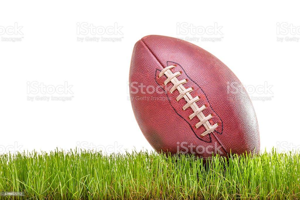 Gros plan sur un ballon de football américain - Photo