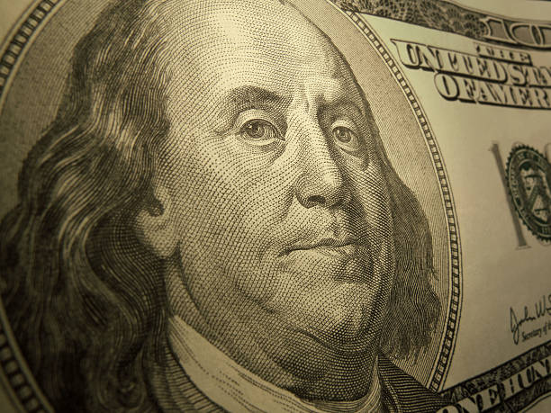 close-up on benjamin franklin - paid stock pictures, royalty-free photos & images