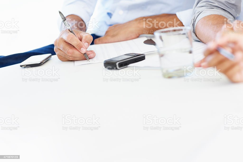 Closeup on boardroom essentials royalty-free stock photo