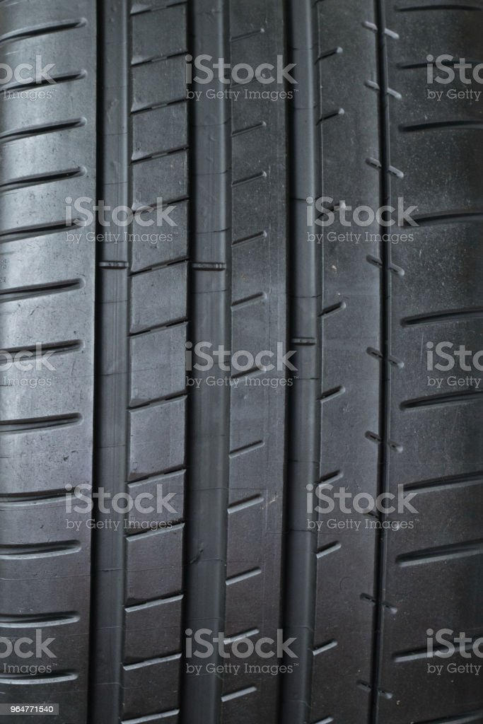 close-up on car tyre royalty-free stock photo