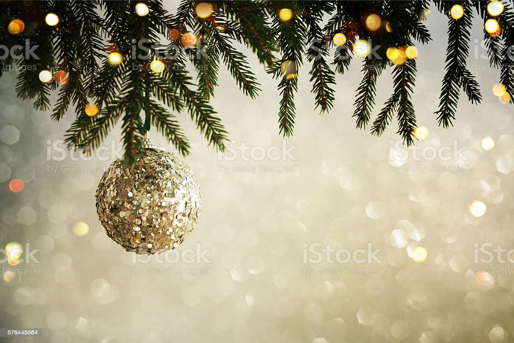 Closeup on Christmas  decoration over bokeh background stock photo