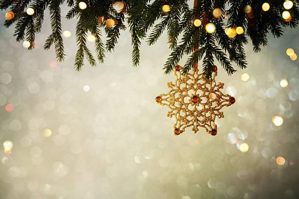 Closeup on Christmas  decoration over bokeh background stock photo
